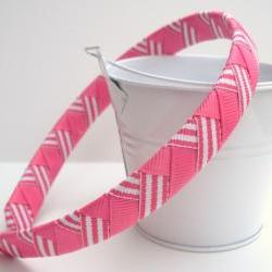 Pink Chevron Headband